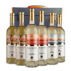【红酒礼盒】黄金鲟摩尔多瓦远洋系列白葡萄酒750ml*6