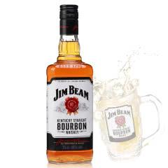 40°美国(JIM BEAM)白占边金宾波本威士忌进口洋酒鸡尾酒750ml