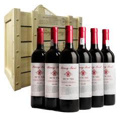 澳洲红酒奔富HCN708贵族西拉佳酿干红葡萄酒750ml*6支整箱送礼木礼盒酒(京东配送)