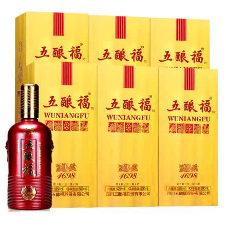 52°四川泸州五酿福1689金福浓香型白酒500ml*6(整箱)