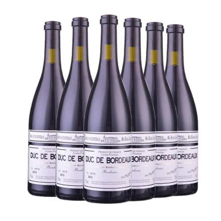 法国白马康帝·波尔多男爵干红葡萄酒750ml(6瓶装)