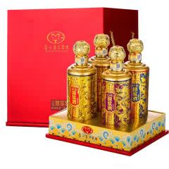 52°白金原浆酒V90浓酱兼香型龙腾四海白酒礼盒500ml(4瓶装)