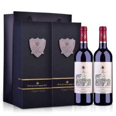 法国莫奈庄园干红葡萄酒礼盒750ml(2瓶装)
