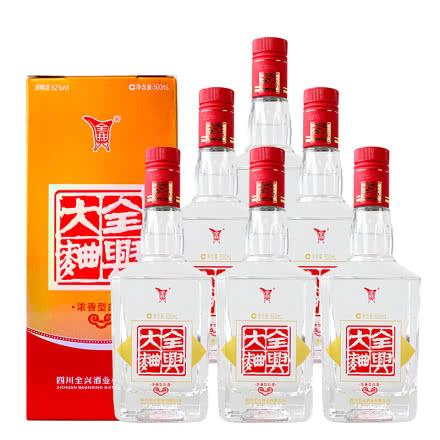 52°全兴大曲·方瓶500ml(六瓶装)