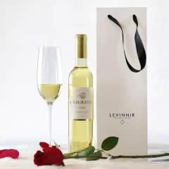 法国红酒法国(原瓶进口)小白甜单支礼盒装白葡萄酒500ml
