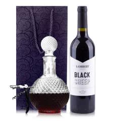 澳大利亚原瓶进口兰伯特黑绵羊赤霞珠干红葡萄酒750ml