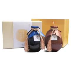 绍兴黄酒 忆往而深14度半干型花雕酒礼盒装 500ml*2瓶