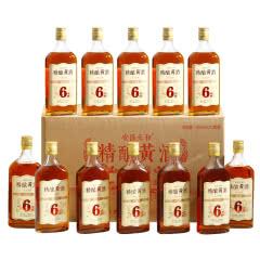 绍兴黄酒六年陈精酿糯米花雕老酒500mlx12瓶整箱装加饭米酒低度半甜自饮口粮酒送礼包邮