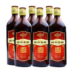 绍兴黄酒 传统手工冬酿花雕酒半干型 整箱500ml*6瓶装
