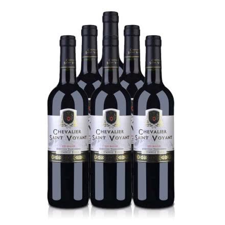 【品质红酒节】法国(原瓶进口)法圣古堡圣威骑士干红葡萄酒750ml(6瓶装)
