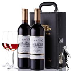 法国原酒进口醉慕甜红酒半干红葡萄酒甜型两瓶2支礼盒装 750ml*2