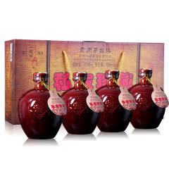 53°贵州茅台镇一道泓酱香型白酒私家珍藏500ml*4