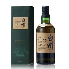 43°日本白州18年单一麦芽威士忌700ml