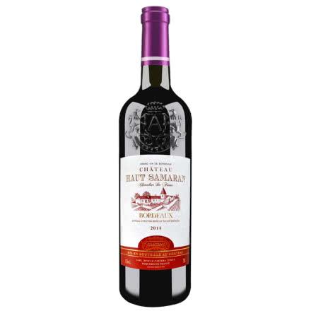 法国原瓶进口红酒 波尔多产区AOC级浮雕艺术瓶干红葡萄酒 13%vol 750ml