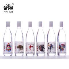 52度富平春中原味道系列浓香型白酒475ml(6瓶装)