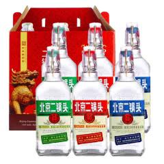 42°永丰牌北京二锅头出口型小方瓶纯粮酒500ml(6瓶装)白酒礼盒