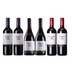 智利原瓶进口 干露酒园红魔鬼 Casillero del Diablo葡萄酒 6支组合装