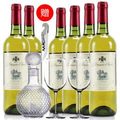 法国红酒整箱法国(原瓶进口)天使爱美丽半甜白葡萄酒750ml*6支装