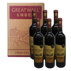 GREATWALL长城解版纳赤霞珠干红葡萄酒750ml*6瓶 整箱装