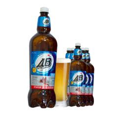 俄罗斯进口啤酒波罗的海远东AB古典啤酒1.35L*6瓶