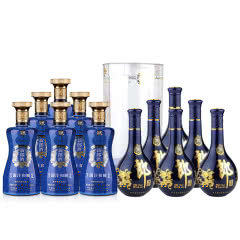 53°郎酒·青花郎500ml 陈酿(6瓶装)+45°新郎酒(国沣和顺)500ml(2015年)(6瓶装)