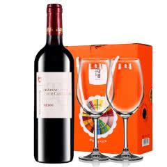【中级庄】法国原瓶进口红酒梅多克图卡斯特隆酒庄2013干红葡萄酒红酒单支送红酒杯750ml