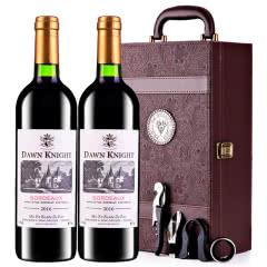 法国原瓶进口红酒黎明骑士酿酒师波尔多AOC级干红葡萄酒红酒礼盒装 750ml*2