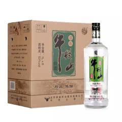 52°牛栏山二锅头珍品陈酿银牛1L*6瓶装白酒整箱