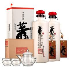【爆品腰斩】54°董酒何香750ml(双瓶装)+茶具五件套(酒仙会员专享)