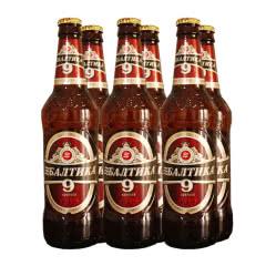 俄罗斯原装进口波罗的海9号黄啤酒(烈性啤酒) 450ml*6瓶