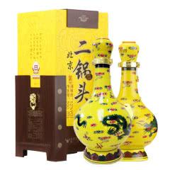 52°牛栏山北京二锅头白酒 经典黄龙 清香型酒500ml*2瓶(礼盒装)
