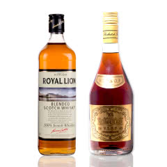 英格兰百年品牌罗兰威士忌 送法国罗慕路斯VSOP白兰地