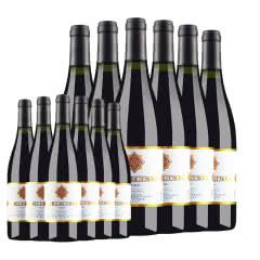 【买一箱得2箱】法国原酒进口红酒 杜赛托珍藏金标干红葡萄酒750ml*6超值装