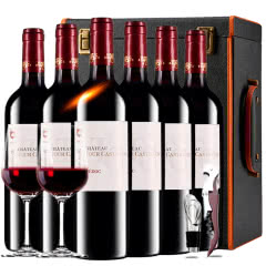 【中级庄】法国原瓶进口红酒梅多克图卡斯特隆酒庄2013干红葡萄酒红酒礼盒装750ml*6