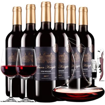 法国进口红酒黎明骑士城堡干红葡萄酒红酒整箱