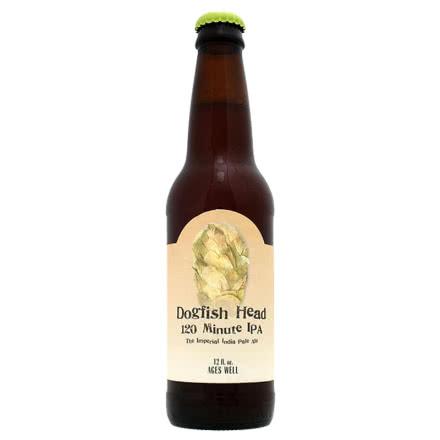 进口精酿 美国角头鲨120分钟IPA啤酒 DOGFISH HEAD 355ml