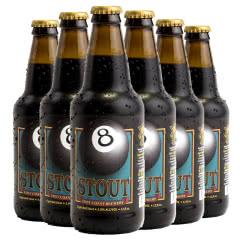 美国进口精酿 迷失海岸黑八世涛啤酒 Lost Coast 355ml*6瓶