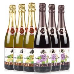 澳大利亚派瑞蒂无醇气泡酒750ml黑白葡萄汁各3瓶