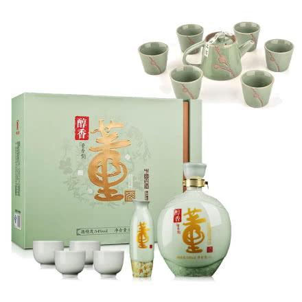 54°董酒醇香礼盒1000ml+茶具7件套