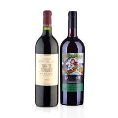(列级庄·名庄·正牌)法国小村庄酒庄2012干红葡萄酒750ml+茉莉花超级波尔多干红葡萄酒750ml