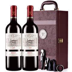 路易拉菲2009男爵古堡干红葡萄酒双支红酒礼盒装 750ml*2