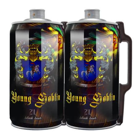 德国德柏斯格啤酒 2L桶装黑啤 麦香原浆精酿 2000ml*2桶 畅饮桶