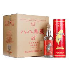 53°台湾高粱酒礼盒 八八典藏600ml 整箱6瓶 红瓶喜庆喜宴酒