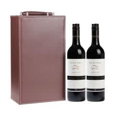 澳大利亚雷施克鲁弗斯公牛赤霞珠干红葡萄酒750ml*2皮质礼盒装