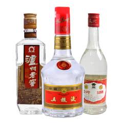 【老酒特卖】低度 汾酒+泸州老窖+五粮液 90年代三瓶装老酒组合 收藏酒