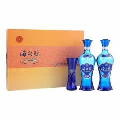52°洋河蓝色经典海之蓝礼盒装口感绵柔浓香型白酒480ml(2瓶装 )