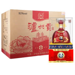 52°泸州贡浓香型白酒高粱酒500ml*6瓶
