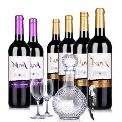 西班牙诺爱德金标干红葡萄酒750ml *4+西班牙诺爱德紫标干红葡萄酒750ml *2
