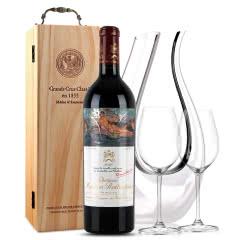 法国原瓶进口红酒 木桐古堡红葡萄酒 2010年 木桐正牌 单支 750ml