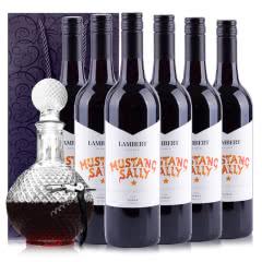 澳大利亚原瓶进口兰伯特野马莎莉设拉子干红葡萄酒750ml*6